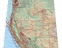 Learn! Exploring Tectonic Motions using GPS Velocity Maps. #UNAVCO #Education #GPS #geodesy #free #college #Grades6-12 #JuniorHigh #HighSchool #LessonPlan #Activity #Module About this image:GPS vectors showing the directions and speeds the western United States is moving.