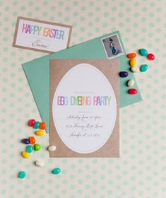 Printable Invite to an Easter Egg Decorating Party