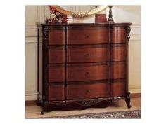 Art. 951/2 '700 Francese, Reproduction of a trumeau cherry French provence, vintage '700