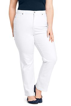 954299fe9929d  94.65 Women s Plus Size High Rise Straight Leg Jeans - Stain Repellent