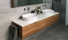 The timeless aesthetics of our timber vanity units can bring warmth even to the most characterless bathrooms. We offer a range of both modern and traditional timber bathroom vanities to match any interior style. Timber Bathroom Vanities, Timber Vanity, Master Bedroom Bathroom, Bathroom Vanity Units, Wall Hung Vanity, Bathroom Flooring, Modern Bathroom, Downstairs Bathroom, Vanity Cabinet