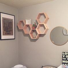 Set of 5 Medium Deep Hexagon Shelves, Honeycomb Shelves, Floating Shelves, Geometric Shelves Shelves, Wall Decor, Geometric Shelves, Honeycomb Shelves, Crate Shelves, Floating Shelves, Honeycomb Shape, Painting Corkboard, Hexagon