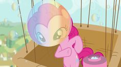 """Pinkie """"What's a birthday party without bubbles and balloons"""""""