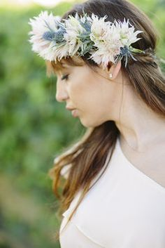 Palm desert wedding ~ Navy Blue and Ivory Headpiece