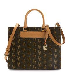 Dooney Bourke Handbag Signature 1975 Janine Satchel Handbags Accessories Macy S