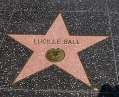 We will take a picture here!(Lucille Ball's Star (Walk of Fame) by hrvdguy80, via Flickr)