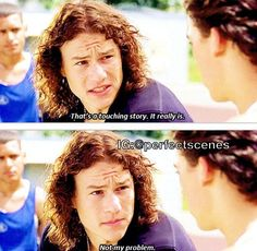 10 things I hate about you Old Movie Quotes, Film Quotes, Romance Movies, Comedy Movies, Hate You Quotes, Sad Quotes, Old Movies, Teen Movies, Vintage Movies