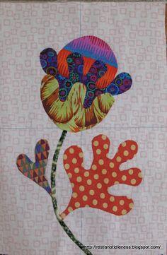 Kim McLean Down Under: Flower Garden Quilt Block