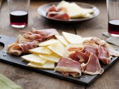 Serrano Ham and Manchego Cheese Plate from CookingChannelTV.com