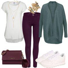 Freizeit Outfits: ColourGame bei FrauenOutfits.de ___ #outfit #damenoutfit #fashion #fashioninspiration #lookbook #stylebook #outfitinspiration #freizeitoutfit #casual #casualstyle #reebok #reebokclassics