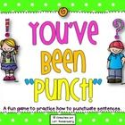 What a fun way for your students to practice proper punctuation! This game is a version of the popular game BANG! Instead of reading words, students read sentences and tell what punctuation mark completes the sentence. Students can play this game in large or small groups. A recording sheet is included. There are two different levels of sentences. Each level includes 108 sentences.$