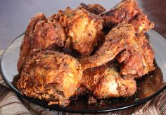 I one-upped Colonel Sanders and used 12 herbs and spices for my crispy, juicy fried chicken. I added a  shot or two of hot sauce to push the flavor over the edge.