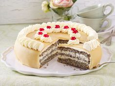 Mohn-Marzipan-Torte backen - so geht's - mohn-marzipan-torte  Rezept