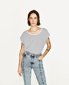 SHORT SLEEVE T-SHIRT-NEW IN-WOMAN-COLLECTION SS/17   ZARA United States