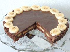 Hriešny čokoládovo – banánový koláč