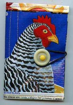 Repurposed chicken wallet