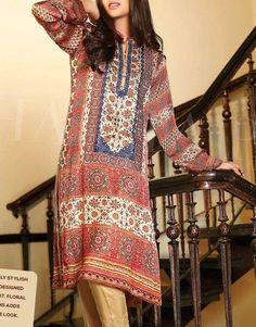 Buy Multicolor Shamose Silk Shirt by Shaista 2015.