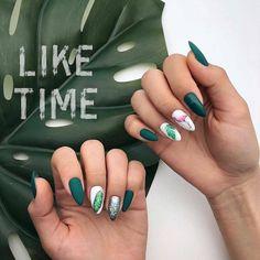 65 Mejores Imágenes De Uñas Color Verde En 2019 Beauty Nails Cute