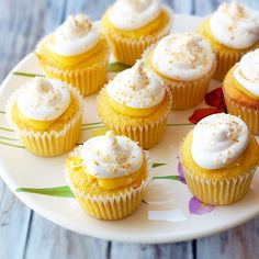Lemon Meringue Cupcakes. I didn't make the cupcakes in this recipe, but I did make the lemon fillings and meringue topping. I used a vanilla bean cupcake for the base. Lovely combination! The meringue was slightly runny, but was remedied by mixing longer than stated.