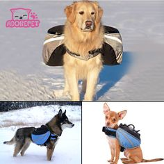 Outdoor dog Saddle backpack bag pet cat dog carrying bags Medium and Large Dog Pack Bag for Hiking Training pet carrier product