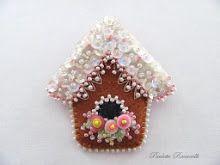 gingerbread birdhouse pin
