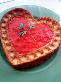 Que no te falte un perejil: Corazón de Queso Fresco con Jamón Dulce ( Pastel Salado )