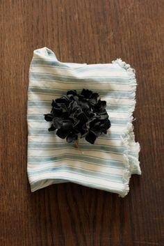 紫陽花 レザー コサージュ | Hydrangea Leather Corsage - Black | IRRE