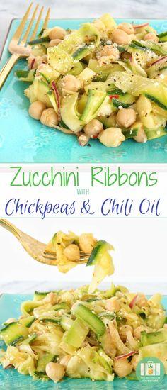 Zucchini Ribbons wit