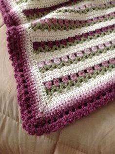 Lapghan - Blankets and Throws - Floral Blanket - Crochet Afghan  - Crochet Blanket - Adult Throw - Handmade Blanket  - Crochet Pillow