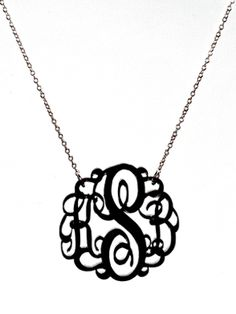 Love this!  Gonna order this!  And wear this regularly!  Love monograms.