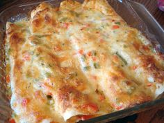 Shrimp Enchiladas, Definitely recommend this recipe, made it today. Use light sour cream, etc save some calories