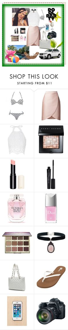 """""""Pool party, cool party."""" by xxitsherroyaltyxx ❤ liked on Polyvore featuring STELLA McCARTNEY, Miguelina, BMW, Bobbi Brown Cosmetics, Smashbox, Victoria's Secret, Christian Dior, tarte, Rock 'N Rose and Chanel"""