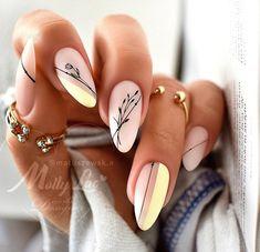 Classy Acrylic Nails, Matte Acrylic Nails, Edgy Nails, Stylish Nails, Trendy Nails, Cute Nails, Matte Almond Nails, Classy Almond Nails, Classy Nails