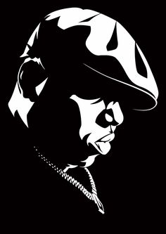 I have chosen this image because its a great stencil picture of one of my favourite artists. It is very plain but doesn't matter because B.I.G is a very big famous artist.