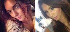 Pin for Later: Kendall Jenner verwandelt sich in Kim Kardashian Nahaufnahme von der Seite Source: Instagram user kendalljenner and Instagram user kimkardashian