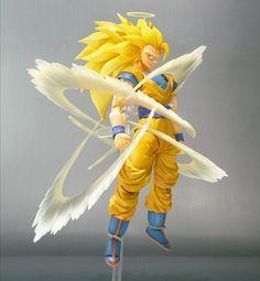Kirin Hobby: Dragon Ball Z: Super Saiyan 3 Goku SH Action Figure Figuarts pela Bandai 4543112632074