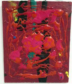 #inspired by jackson pollock  #art #fineart #artstudent #uni #work #creative #abstractart #abstraction #colourful; #acrylics #pink #purple #orange #experimenting #jacksonpollock #inspiration #tiny