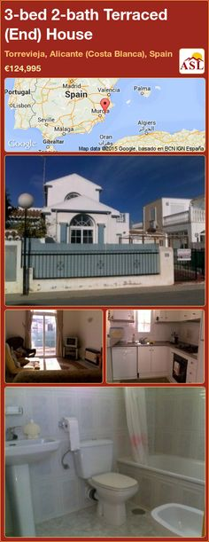 3-bed 2-bath Terraced (End) House in Torrevieja, Alicante (Costa Blanca), Spain ►€124,995 #PropertyForSaleInSpain