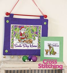 Retro Christmas style cross stitch designs by The World of Cross Stitching, issue195