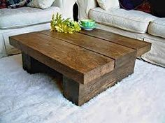 Image result for wooden table on wheels
