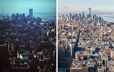 Manhattan - New York - USA. The World Trade Center before and after. Trade Centre, World Trade Center, Manhattan New York, Nevada, Places To Travel, Utah, New York Skyline, Arizona, California