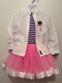 Doc Mc stuffins birthday/ Halloween outfit for my little Doc Bowsinspiredbyamber@hotmail.com