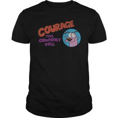 Courage The Cowardly Dog - Courage Logo T-Shirt Hoodie Sweatshirts iiu. Check price ==► http://graphictshirts.xyz/?p=67905
