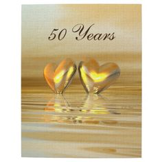 Golden Anniversary Hearts Jigsaw Puzzles