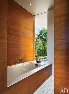 Modern Bathroom by Joel Sanders Architect and Joel Sanders Architect in Hudson River Valley, New York