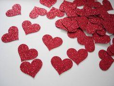 #Glitter #heart #confetti
