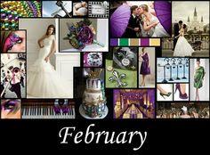 February - Mardi Gras Wedding  - Created By Megan Pickett (Perfect Day Wedding Consulting) 2011