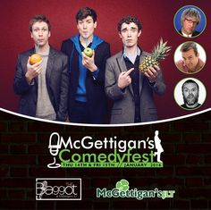 That's 2015 done. Must be time for some laughs in JLT! McGettigan's Comedyfest 2016 is taking place on 14th & 15th January 2016 at #McGettigansJLT !