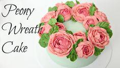 Peony Buttercream Flower Wreath Cake - CAKE STYLE