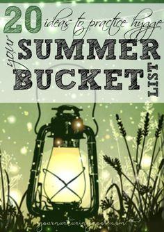 Summer hygge summer bucket listSummer hygge summer bucket list. #13 Nature Table